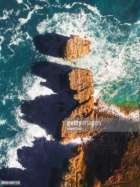 Cliffs from above