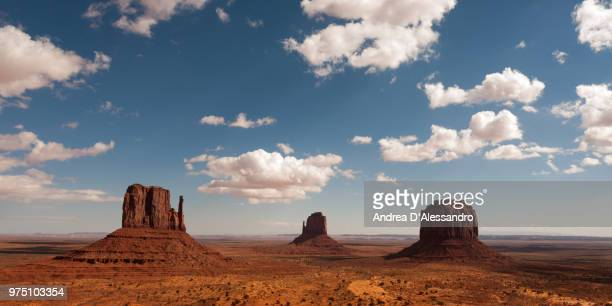 cliffs in desert, monument valley tribal park, arizona, usa - monument valley tribal park stock photos and pictures