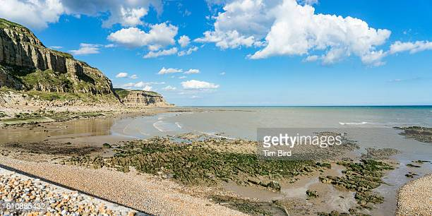 cliffs in hastings, uk - hastings stock photos and pictures