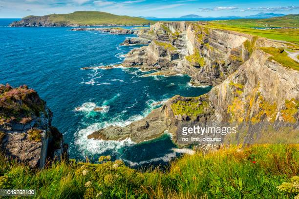 cliffs in ireland - ring of kerry stock photos and pictures