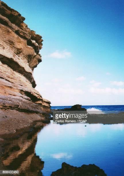 Cliffs in sea