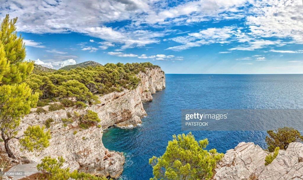 Cliffs in Telascica Nature Park : Stock Photo