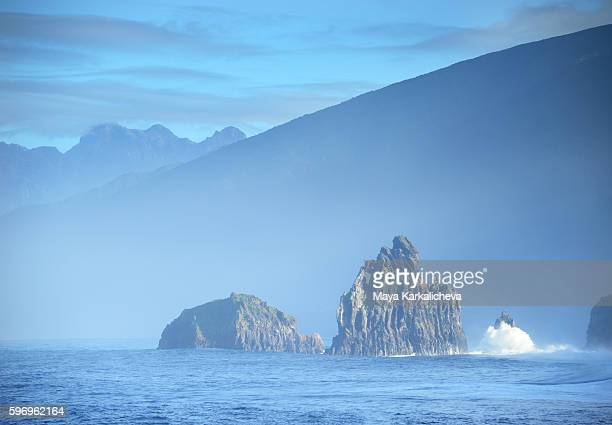 Cliffs in the ocean at Porto Moniz, Madeira