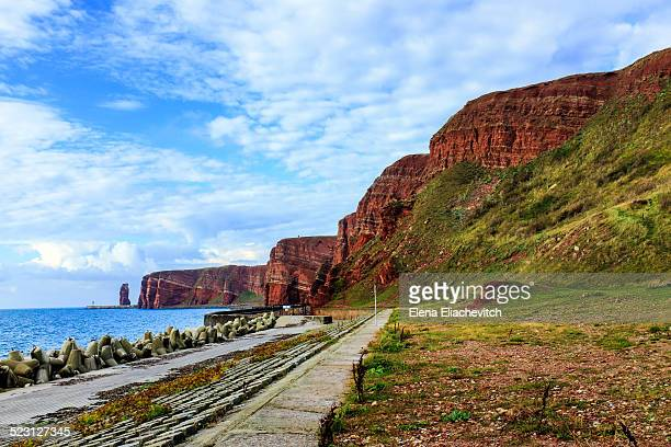 cliffs of heligoland, germany - helgoland stock pictures, royalty-free photos & images