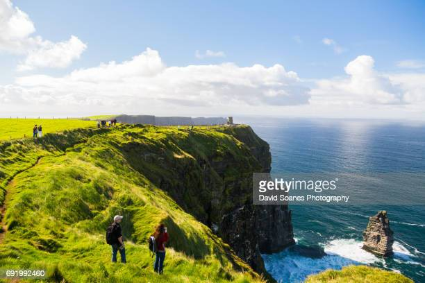 cliffs of moher in county clare, ireland - david cliff stock pictures, royalty-free photos & images