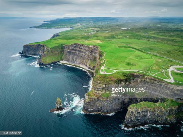 cliffs of moher ireland wild atlantic way - republic of ireland stock pictures, royalty-free photos & images