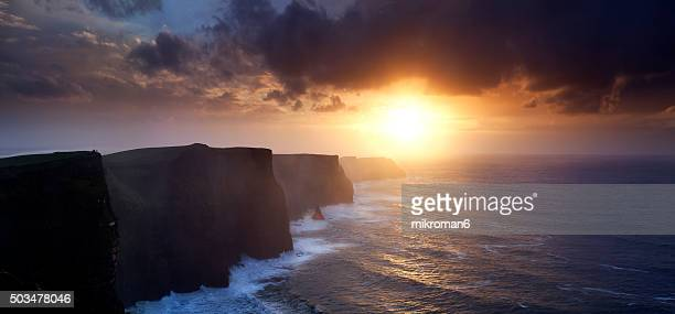 Cliffs of moher  sunset time
