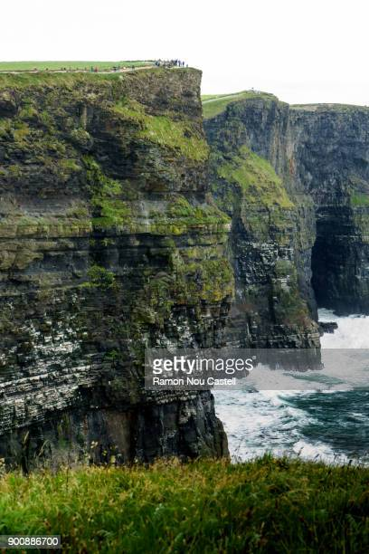 Cliffs of Moher - zoom on the Cliffs