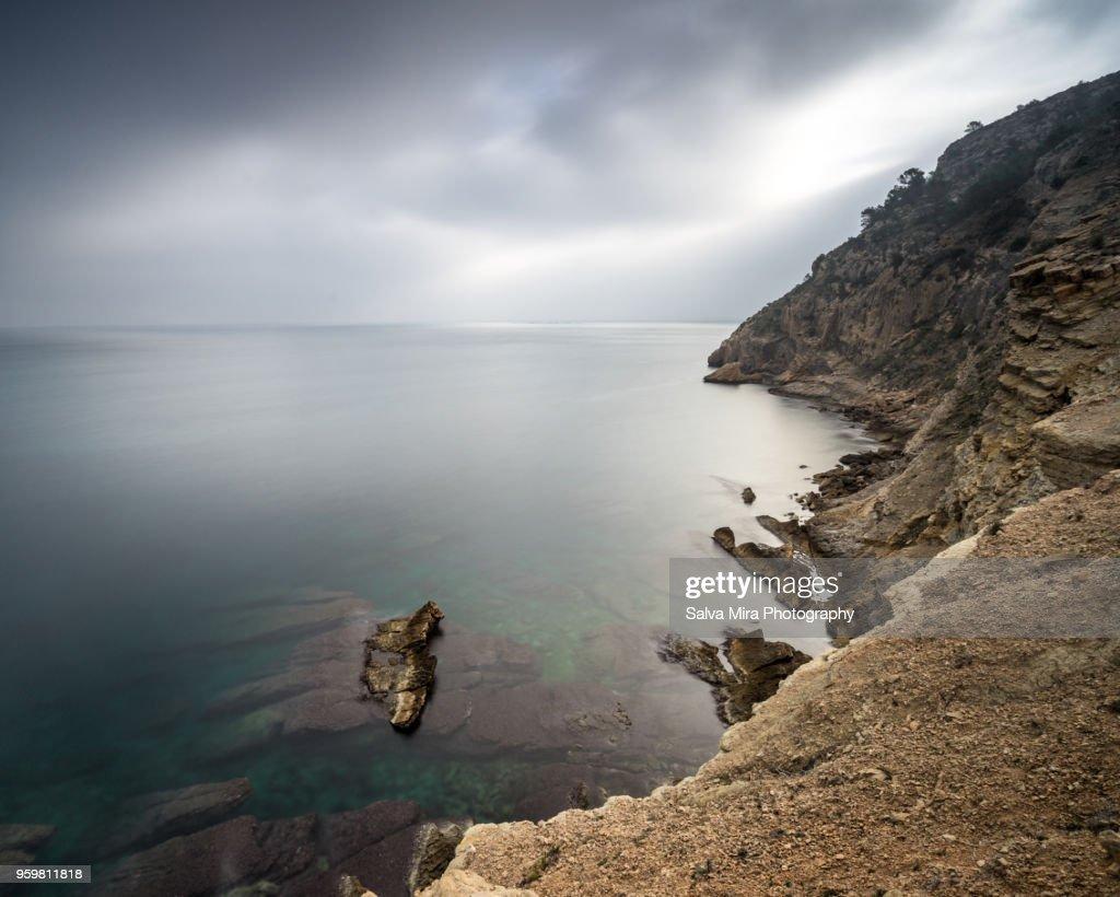 Cliffs of Serra Gelada : Stock-Foto