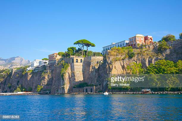 cliffs of sorrento, italy, on amalfi coast - sorrento stock pictures, royalty-free photos & images