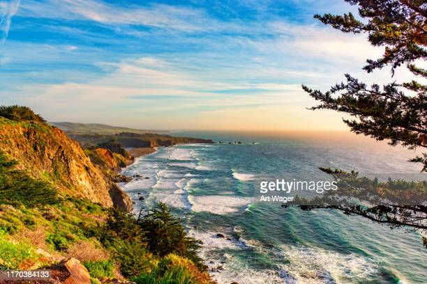 cliffs over the pacific ocean - central california stock pictures, royalty-free photos & images