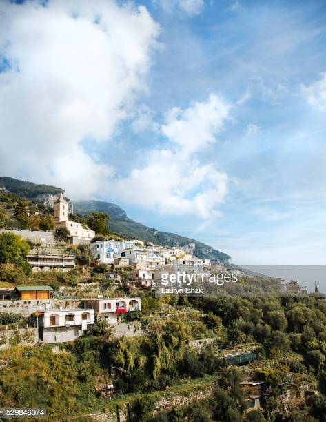 Cliffside houses in Positano