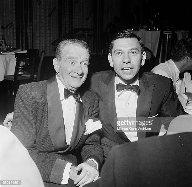 Clifton and Jack Webb attend the premiere of The Egyptian at Romanoff's in Los AngelesCA
