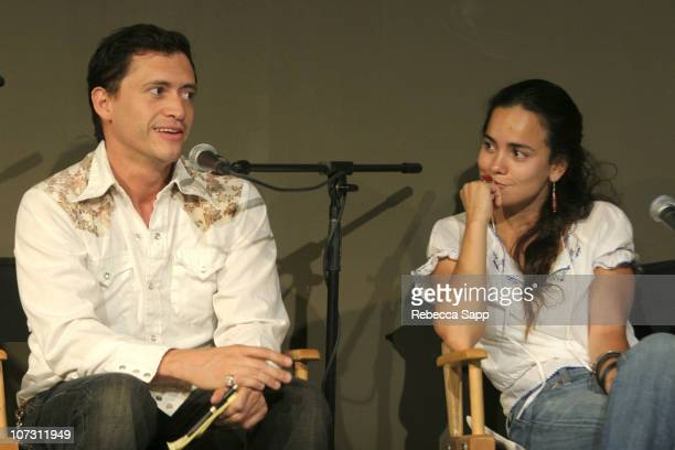 Clifton Collins Jr and Alice Braga during 2006 Los Angeles Film Festival Fest Talk Crossing Borders Latino Indiewood at Hammer Museum in Los Angeles...