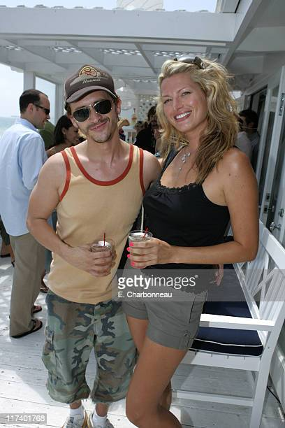 Clifton Collins Jr and Amanda Tosch during 10 CANE RUM and ALTERNA Party Hosted By Rosario Dawson For Voto Latino at Polaroid Beach House in Malibu...