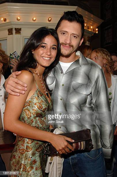 Clifton Collins Jr and Emmanuelle Chriqui during 2005 Toronto Film Festival Capote Premiere at Visa Screening Room in Toronto Canada