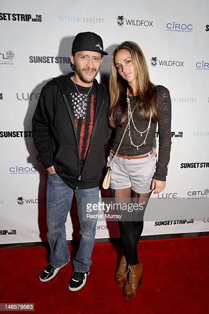Clifton Collins Jr and Megan Ozurovich attend Elysium Industry presents the Los Angeles Sunset Strip Premiere and after party powered by Ciroc Vodka...