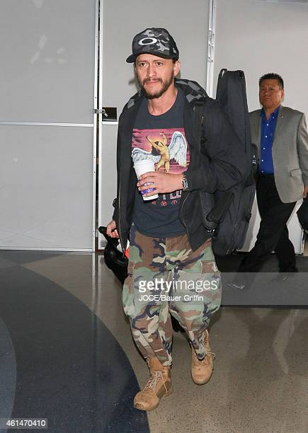 Clifton Collins Jr is seen at LAX on January 12 2015 in Los Angeles California