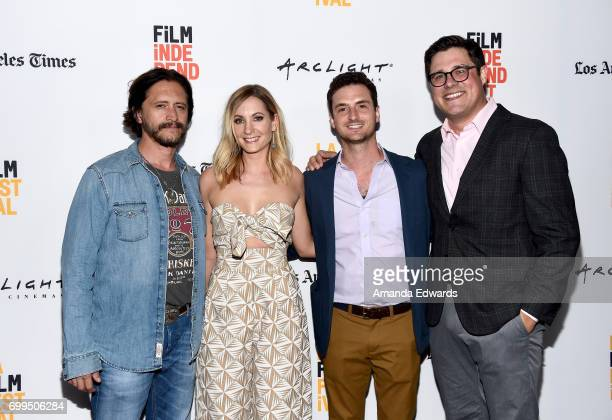 Clifton Collins Jr Joanne Froggatt Trevor White and Rich Sommer attend the screening of 'A Crooked Somebody' during the 2017 Los Angeles Film...