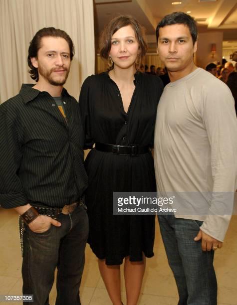 Clifton Collins Jr Maggie Gyllenhaal and Adam Beach