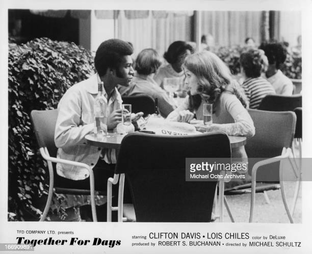 Clifton Davis and Lois Chiles in a scene from the film 'Together for Days' in 1972