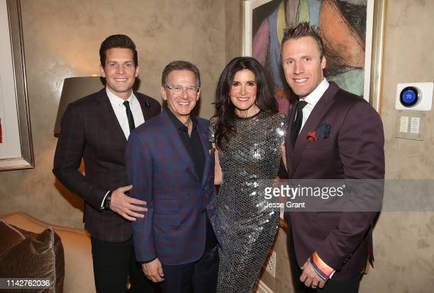 Clifton Murray, Martin Katz, Kelly Fisher Katz and Fraser Walters attend a private dinner for The Kennedy Center's National Committee For The...