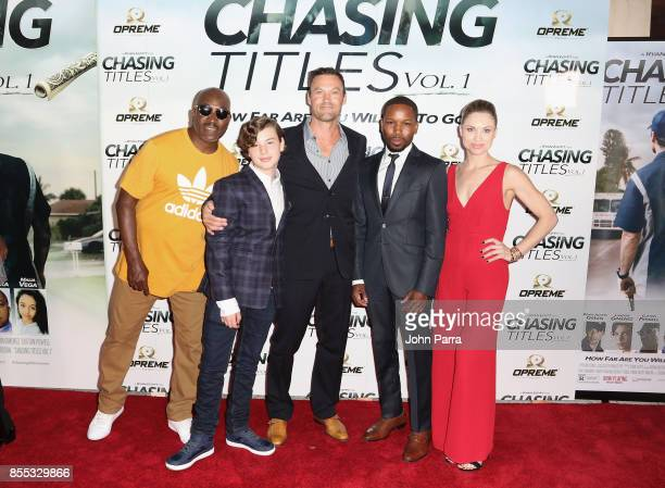 Clifton Powell Landon Gimenez Brian Austin Green Haas Manning and Erica Eynon arrive at the Chasing Titles Vol 1 West Palm Beach Premiere on...