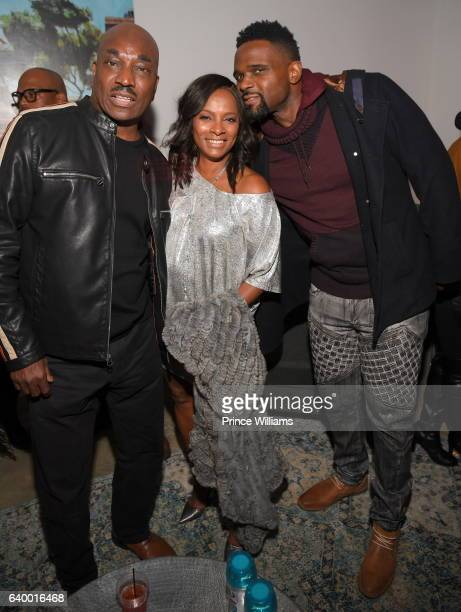 Clifton Powell Vanessa Bell Calloway and Darius McCrary attend Bossip 10 Year Anniversary Bash at 433 Bishop on December 15 2016 in Atlanta Georgia