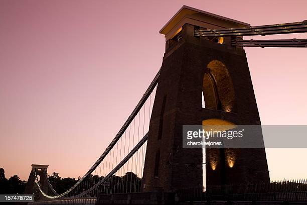 clifton suspension bridge at dusk