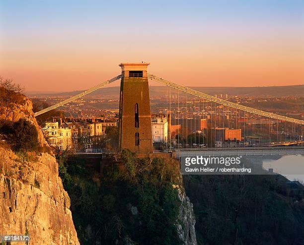 clifton suspension bridge, avon, bristol, england, united kingdom, europe - gavin hellier stock pictures, royalty-free photos & images