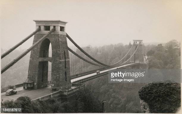 Clifton Suspension Bridge, Clifton, City of Bristol, 1950-1959. Clifton Suspension Bridge, viewed from the north. Clifton Suspension Bridge was...