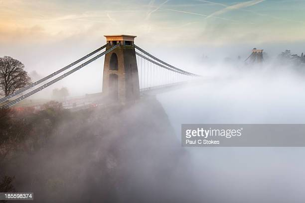 Clifton Suspension Bridge in the Morning Mist