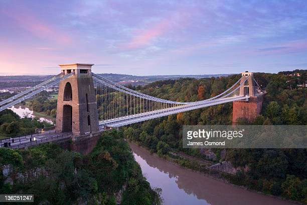 clifton suspension bridge - bristol stock pictures, royalty-free photos & images