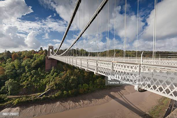 clifton suspension bridge - terence waeland stock pictures, royalty-free photos & images