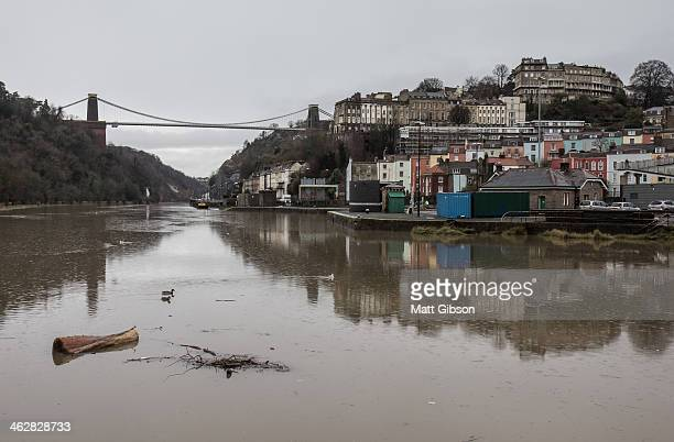 Clifton Suspension Bridge with Flooded Avon