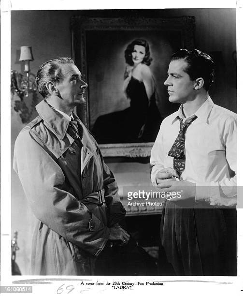 Clifton Webb and Dana Andrews in a scene from the film 'Laura' 1944