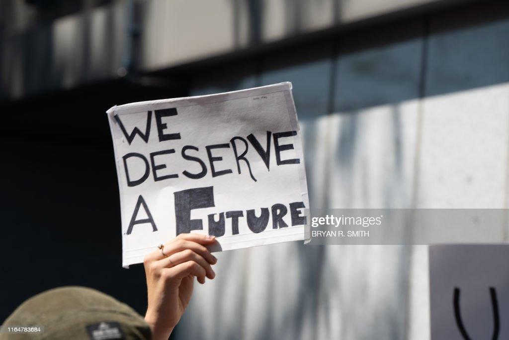 US-UN-climate-PROTEST : News Photo