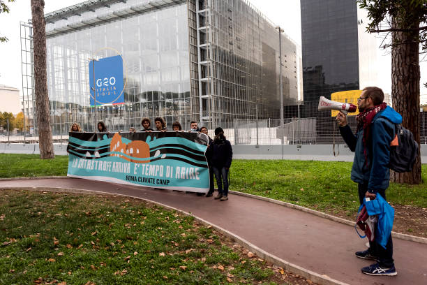 ITA: Climate Activists Protest At  Upcoming G20 Venue