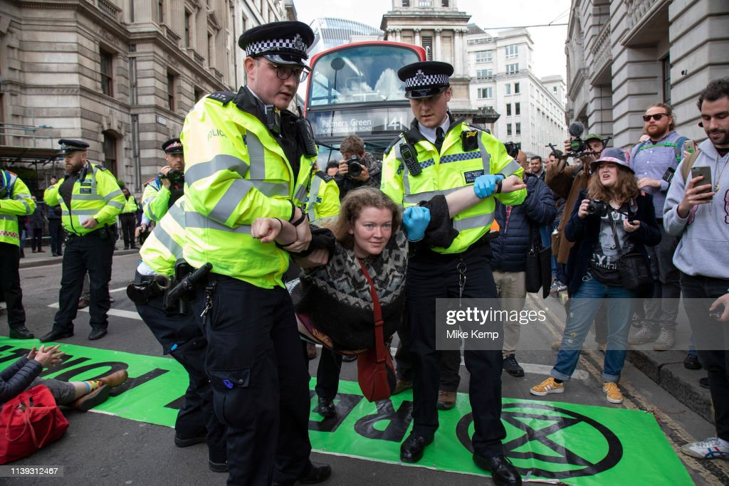 GBR: Final Action From Extinction Rebellion Climate Change In The City Of London