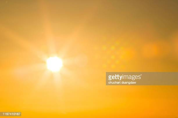 climate change, heatwave hot sun, global warming from the sun and burning - zon stockfoto's en -beelden