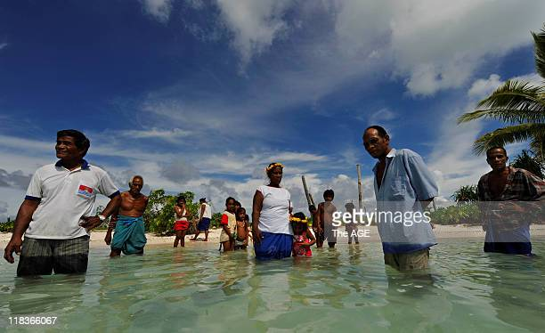Climate change Kiribati Islands Villagers on the island of Abaiang have relocated their village Tebunginako because of rising seas and erosion They...