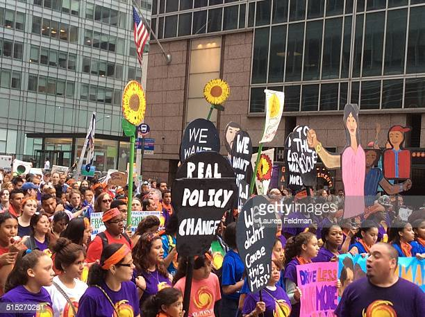 Climate Change March in NY City Sept 21 2014