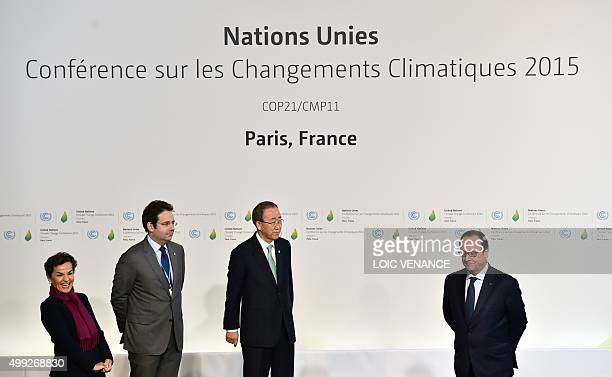 Climate chief Christiana Figueres , French Junior minister for External Trade and Tourism Matthias Fekl, United Nations Secretary General Ban Ki-moon...