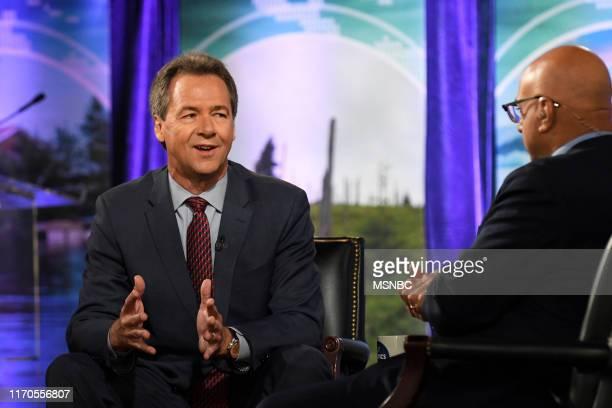 Climate Forum 2020 -- Pictured: Governor Steve Bullock, Ali Velshi at Georgetown University --