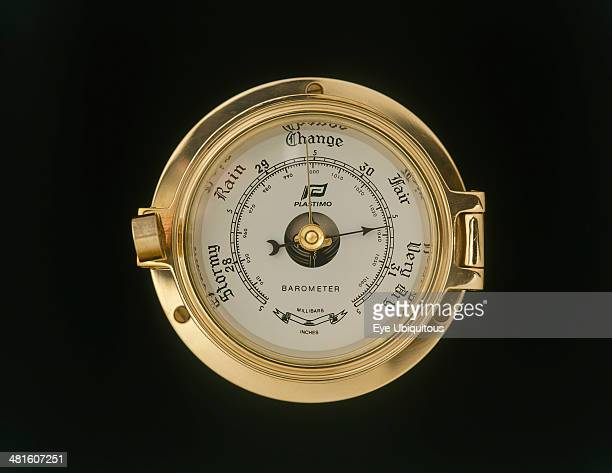 Climate Measurement Instruments Brass ships barometer