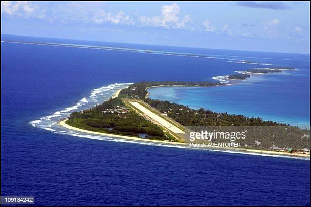 Climate Warming And Water Rise Threaten Pacific Nation Of Tuvalu On January 4Th 2002 In Funafuti Tuvalu Tuvalu Airport