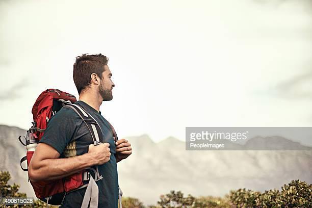 Erklimmen Sie die Berge.