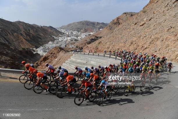 Climb of Al Hamriyah / Al Hamriyah City / Peloton / Landscape / during the 10th Tour of Oman 2019 Stage 2 a 1565km stage from Royal Cavalry Oman to...