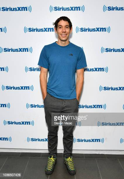 Climber Alex Honnold visits SiriusXM Studios on September 20 2018 in New York City