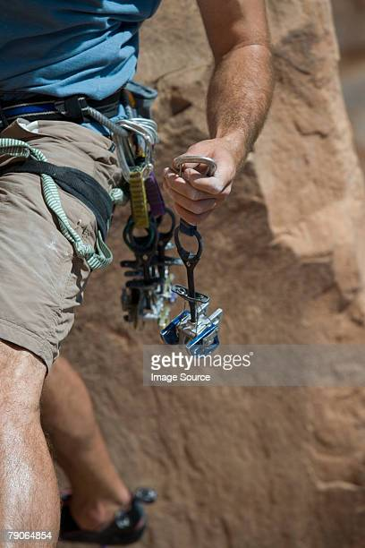 Climber holding camming device